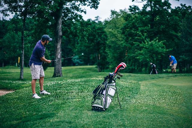Golfer Hitting Flop Shot