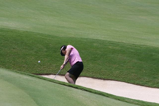 Golfer Hitting Flop Shot from the Sand