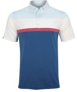 Matte Grey Pacific Frost Golf Polo