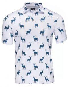 Waggle Golf Buck Short Golf Shirt